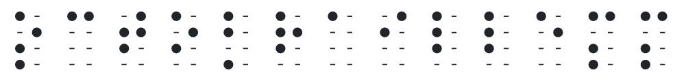Octobraille Visual MM punktskrift